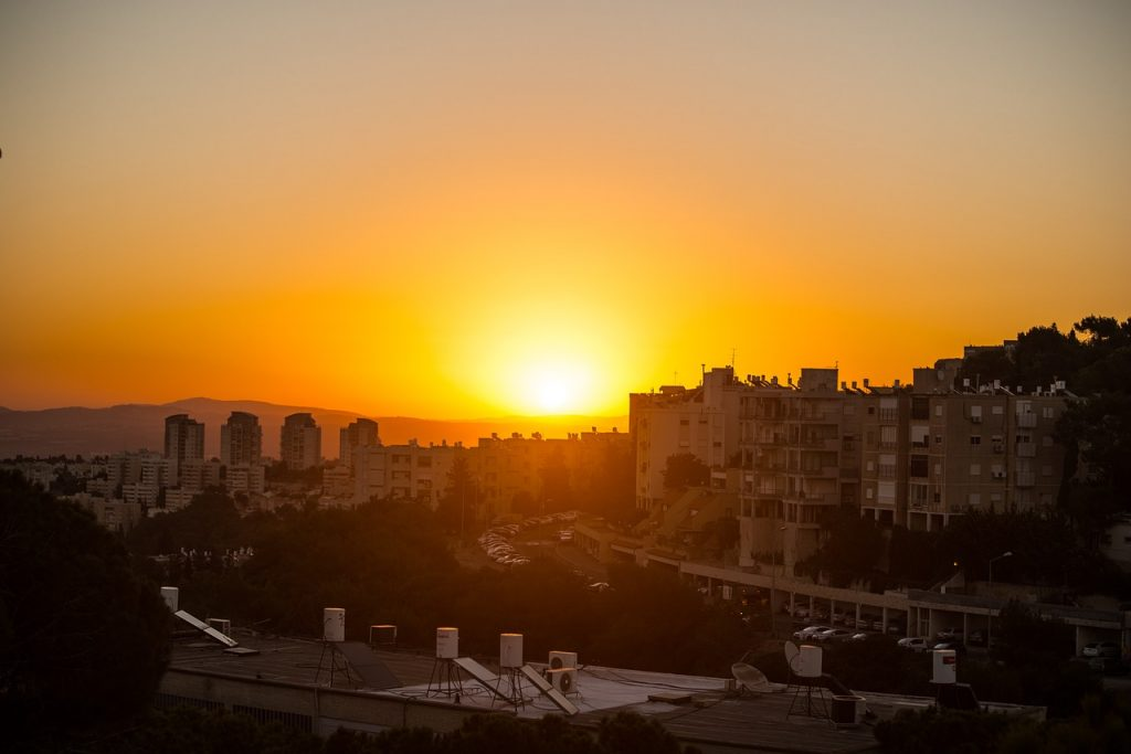 שקיעה בחיפה